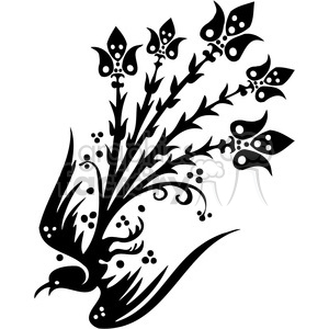 Chinese swirl floral design 078 clipart. Commercial use image # 386820