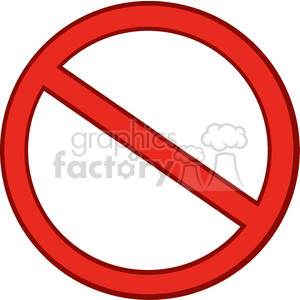 Clipart of Red Stop Sign