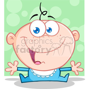 RF Happy Baby Boy With Open Arms clipart. Commercial use image # 386950