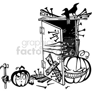 Halloween clipart illustrations 018 clipart. Royalty-free image # 387080