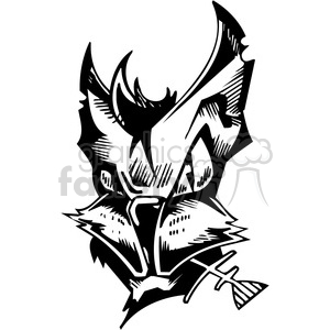 alley cat tattoo design clipart. Royalty-free image # 387101