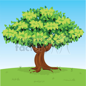 vector cartoon big tree clipart. Royalty-free image # 387191