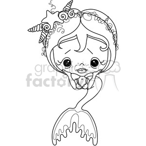 Girl 2 Doll Mermaid clipart. Commercial use image # 387201