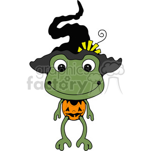 Frog Witch color clipart. Royalty-free image # 387221