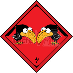 Crow crossing Sign in color clipart. Royalty-free image # 387231