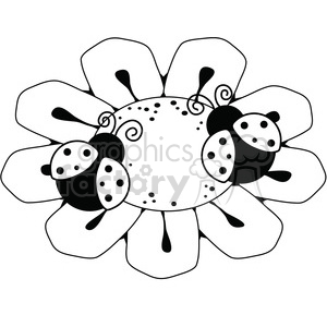 LadyBug Flower clipart. Commercial use image # 387241