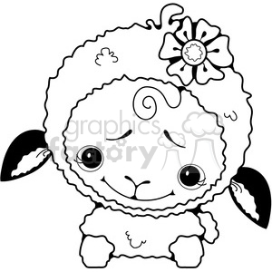 Sheep White 3 clipart. Royalty-free image # 387261