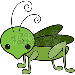cartoon Grasshopper clipart. Royalty-free image # 387271