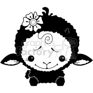cartoon cute vector clipart clip+art sheep
