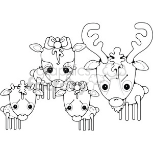 Deer Family clipart. Commercial use image # 387321