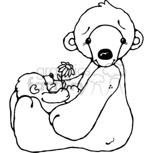 Polar Bear 2 and Baby clipart. Royalty-free image # 387429