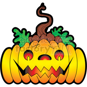 Colored Jack O Lantern clipart. Royalty-free image # 387465