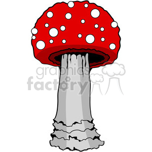 Mushroom 03 red clipart. Royalty-free image # 387482