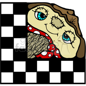 Scarecrow Checker Sqr in color clipart. Royalty-free image # 387510