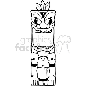 Tiki 01 clipart. Royalty-free image # 387570