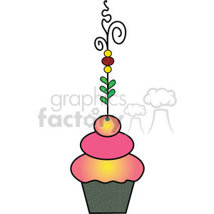 Cupcake Fancy COL clipart. Royalty-free image # 387592