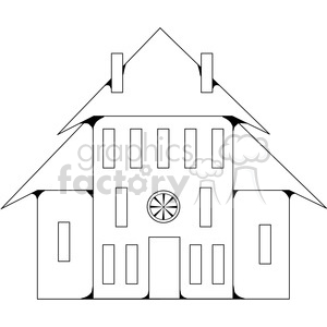 Salt Box House 04 clipart. Commercial use image # 387602