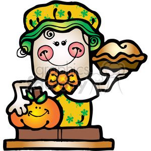SMORE Pilgrim Girl COL clipart. Royalty-free image # 387612