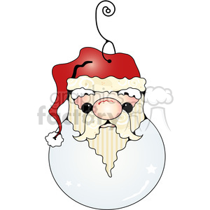 Santa Ornament clipart. Commercial use image # 387631