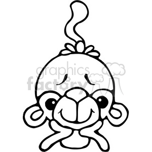 Monkey On Elbows clipart. Royalty-free image # 387641