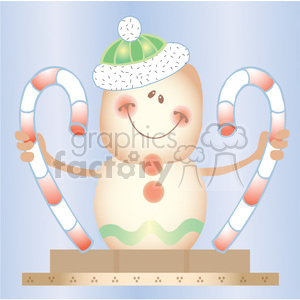 Smore Gingerbread Man and Candycane Sq clipart. Commercial use image # 387670
