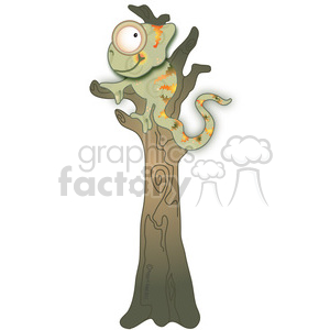 Chameleon in Tree 02 animation. Royalty-free animation # 387720