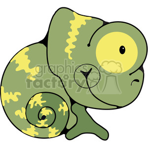 green Chameleon Curled clipart. Commercial use image # 387768