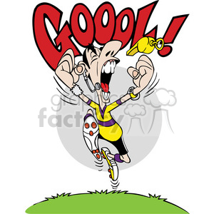 cartoon soccer character screaming goal clipart. Commercial use image # 387797