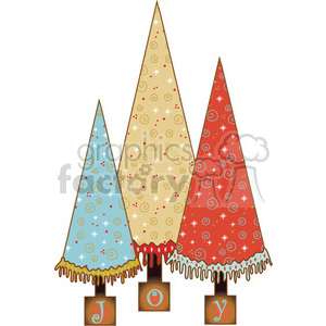 Christmas Trees clipart. Commercial use image # 387973
