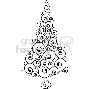 Christmas Tree 01 clipart clipart. Royalty-free image # 388033