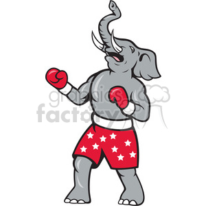 elephant republican boxer celebrate clipart. Royalty-free image # 388126
