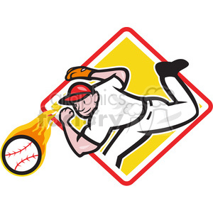 pitcher throw ball frnt lo DIA clipart. Royalty-free image # 388136