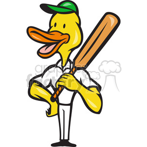 duck cricket bat standing clipart. Royalty-free image # 388216