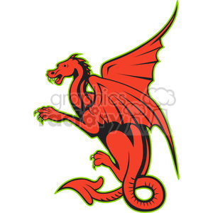 big dragon side clipart. Royalty-free image # 388276