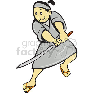 samurai slicing clipart. Commercial use image # 388444