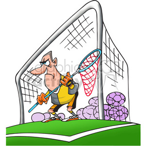 cartoon goal keeper clipart. Royalty-free image # 388494