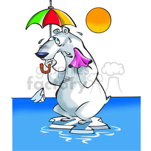 polar bear sweating clipart. Commercial use image # 388514