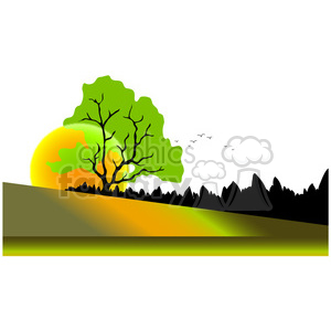 Sunset Scene 01 clipart. Royalty-free image # 388524