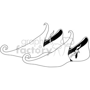 Elf Shoes 01 clipart. Commercial use image # 388544