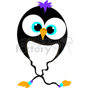Penguin Bomber Beanie Hat clipart. Royalty-free image # 388564