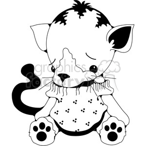 Stuffed Kitty Cat clipart. Royalty-free image # 388574