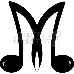 Letter M Music 388594 vector clip art image illustrations by Graphics ...