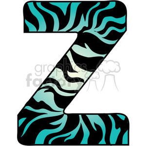 Letter Z Zebra Fur clipart. Commercial use image # 388614