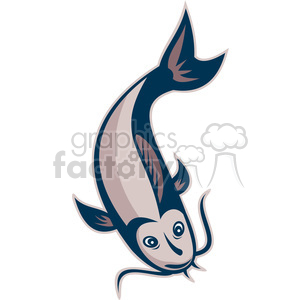 catfish down clipart. Royalty-free image # 388644