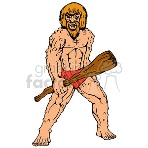 caveman holding the club clipart. Royalty-free image # 388654