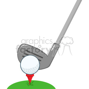 5700 Royalty Free Clip Art Golf Club And Ball clipart. Commercial use image # 388835