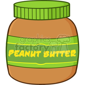 6594 Royalty Free Clip Art Peanut Butter Jar Cartoon Illustration clipart. Royalty-free image # 389406
