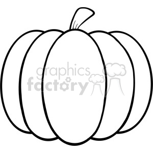 6601 Royalty Free Clip Art Black and White Pumpkin Cartoon Illustration clipart. Royalty-free image # 389723