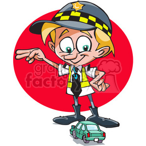 cartoon character funny comical traffic cop police child kid