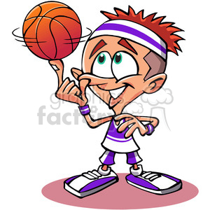 cartoon basketball player clipart. Royalty-free image # 389811